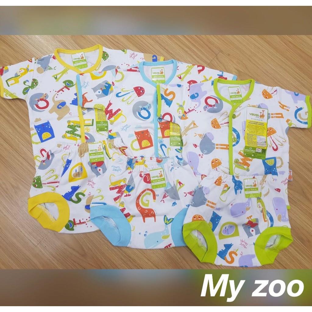 Setelan Panjang Piyama Baju Tidur Bayi Velvet Junior Newborn Spy46 Motif Poppy Shopee Indonesia