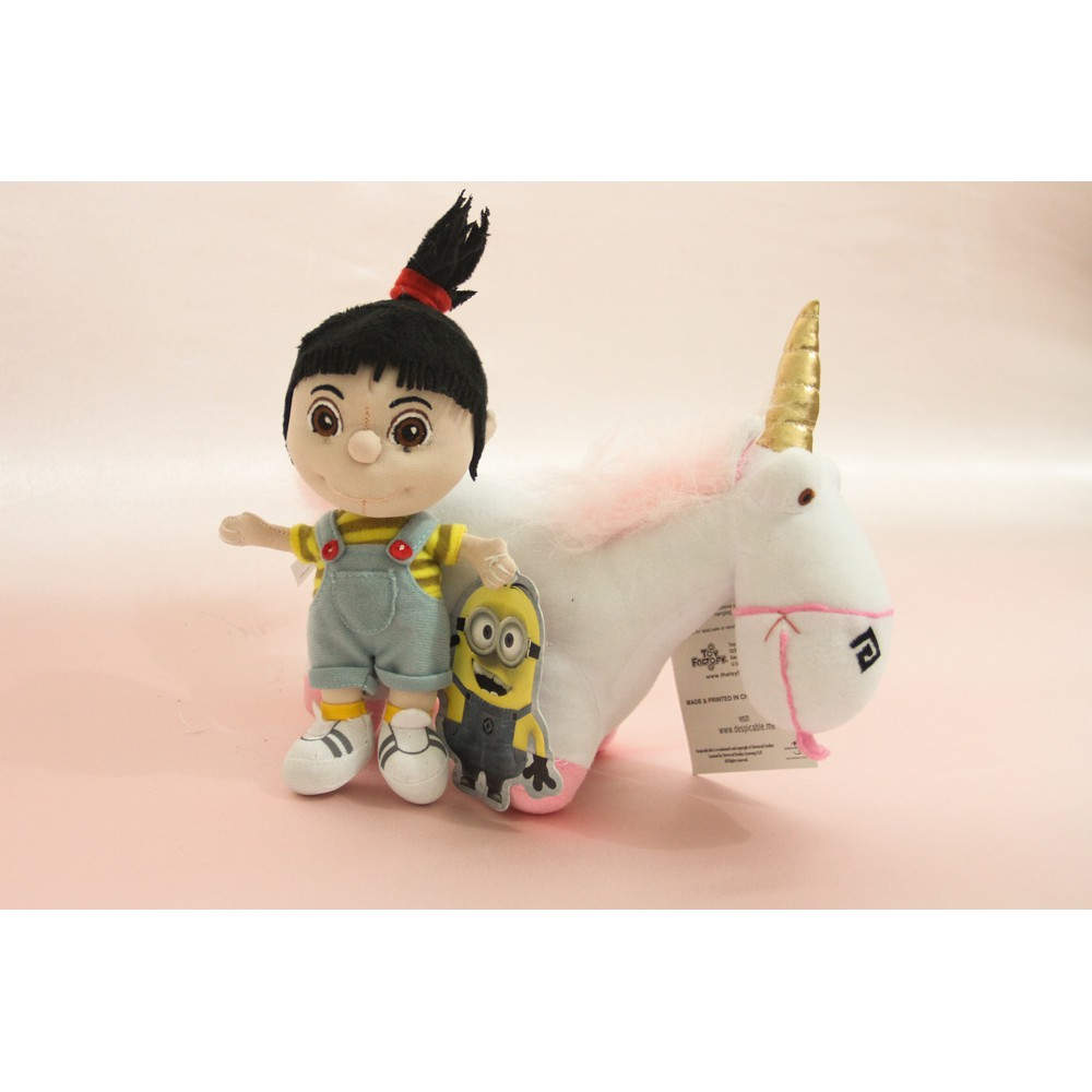 New Produck Boneka Fluffy Unicorn Agnes Despicable Me 38cm 40cm 60cm Jumbo Minion Universal Studio Shopee Indonesia