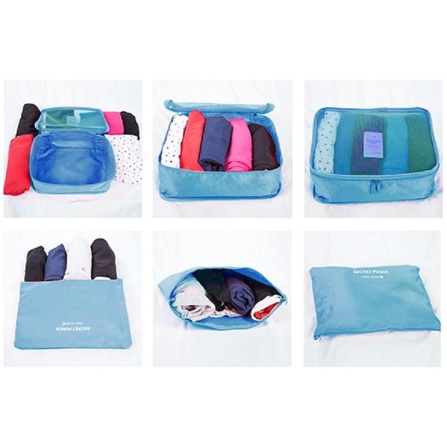 6 In 1 Traveling Bag In Bag Organizer (1 Set Isi 6 Pcs Organizer )   Shopee Indonesia