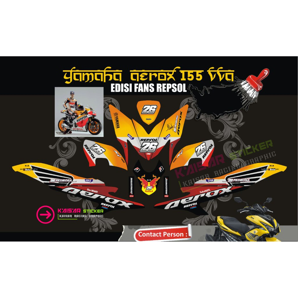 Sticker decal motor aerox 155 design 24 shopee indonesia