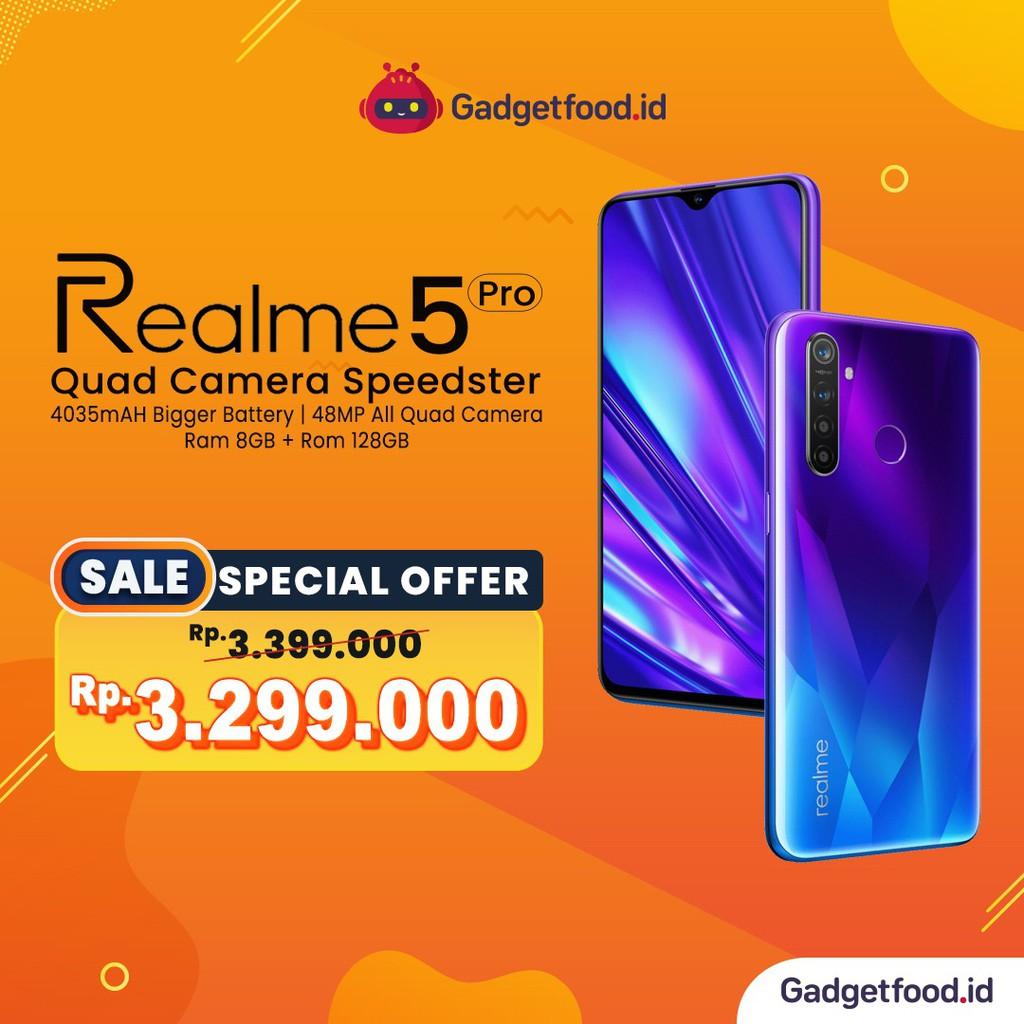 Hp Realme 5 Pro Ram 8gb 128 Gb Original Garansi Resmi Smartphone Promo Handphone Terbaru Cod Shopee Indonesia