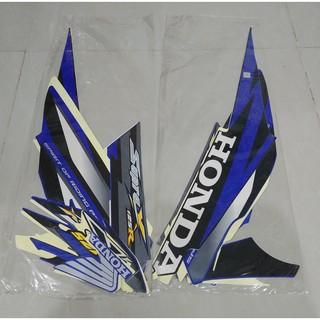 Discon Stiker Bodi & Lis Body & Striping Supra X 125 2008 Cw Hitam Biru | Shopee Indonesia