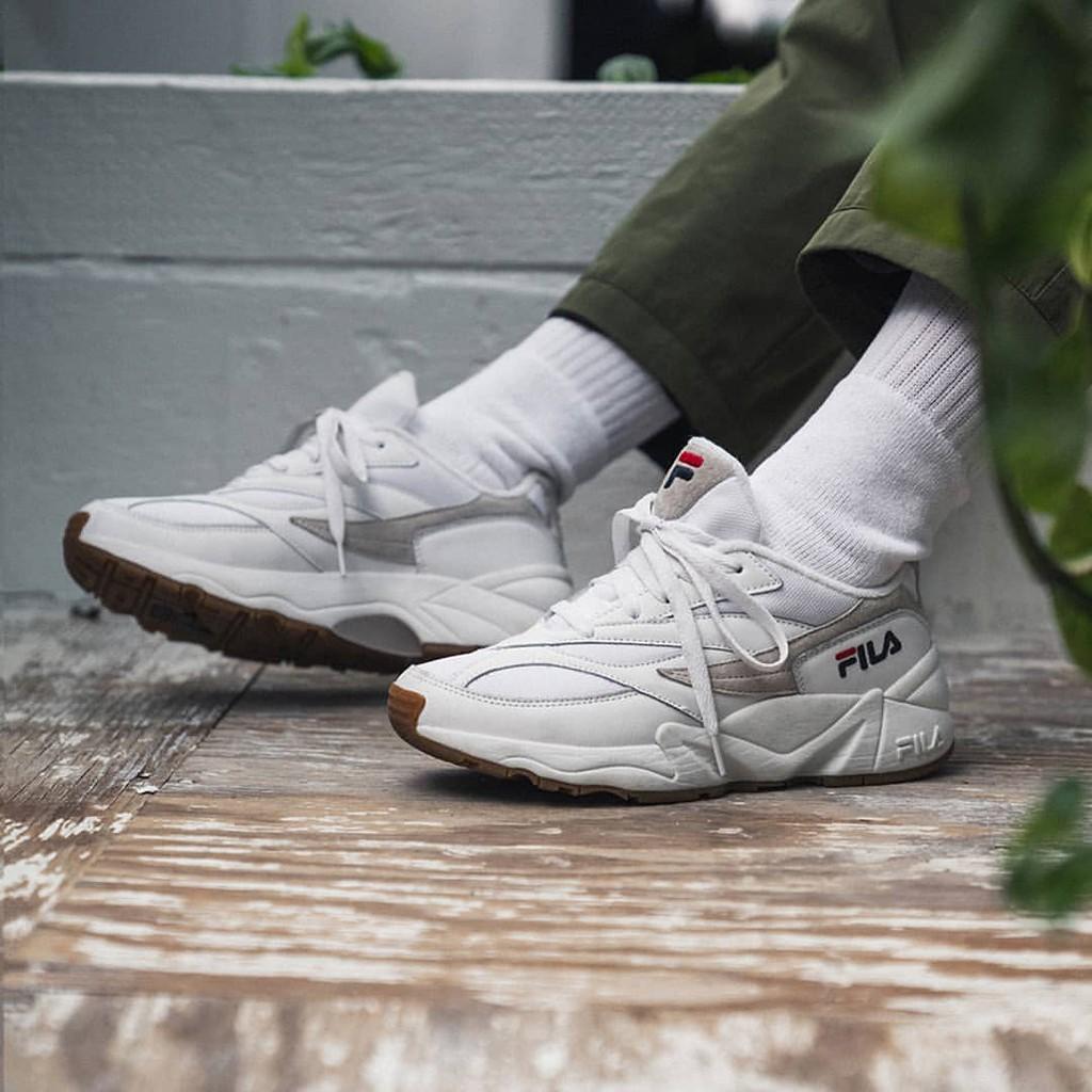 Sepatu Fila Venom 94 White Gum Brown Putih Coklat