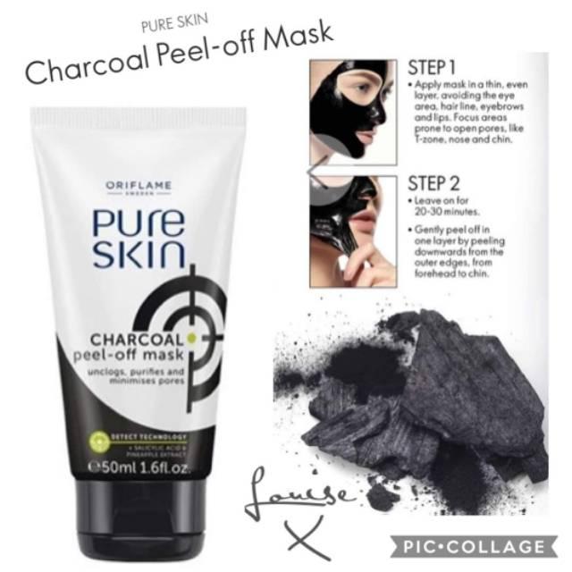 Pure Skin Charcoal Peel Off Mask Shopee Indonesia