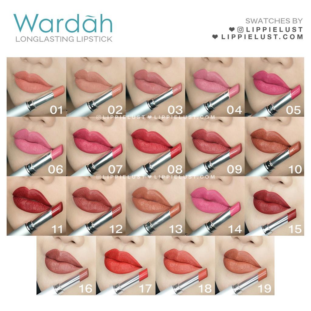 Wardah Long Lasting Lipstick No 1 19 Ready Semua Varian Warna