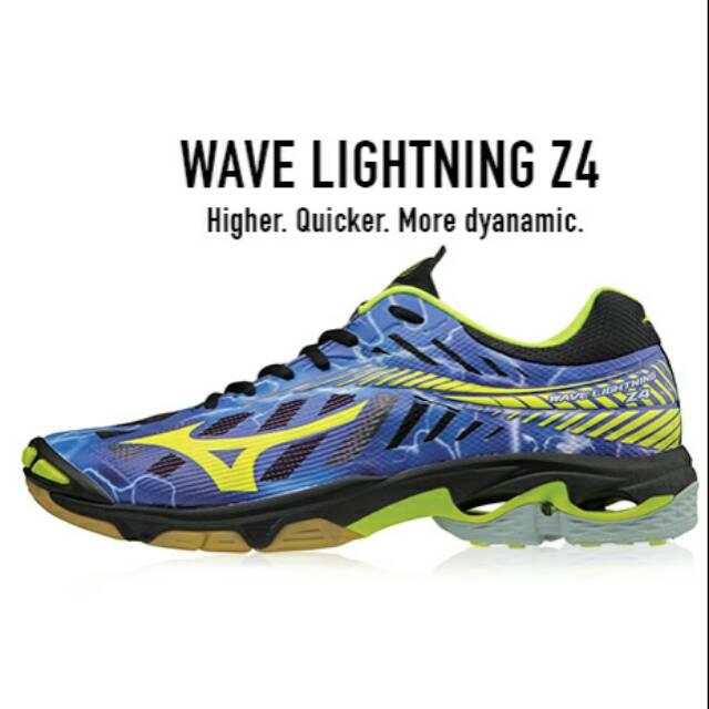 sepatu mizuno wave lightning z4 low blue yellow original  b121bea168