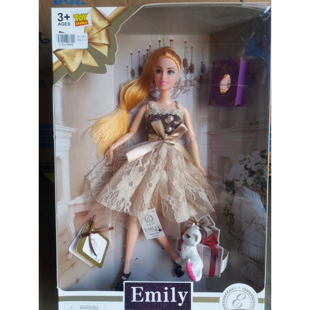 Barbie Emily Classical Fashion Mainan Anak Perempuan Boneka Shopee Indonesia