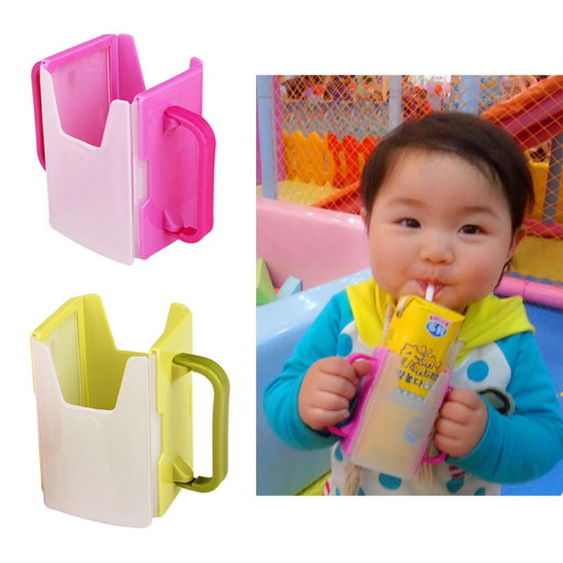 Toddler Baby Juice Pouch Drink Tool Kids Child Milk Handles Cup Holder