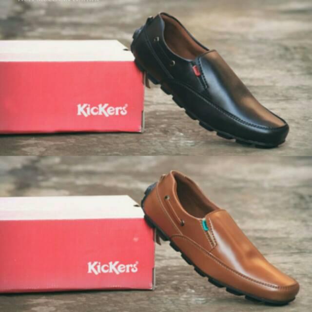 Sepatu Slop Pria Murah Kickers Noly Moccasin SlipOn Leather  0f1d7e2b4c