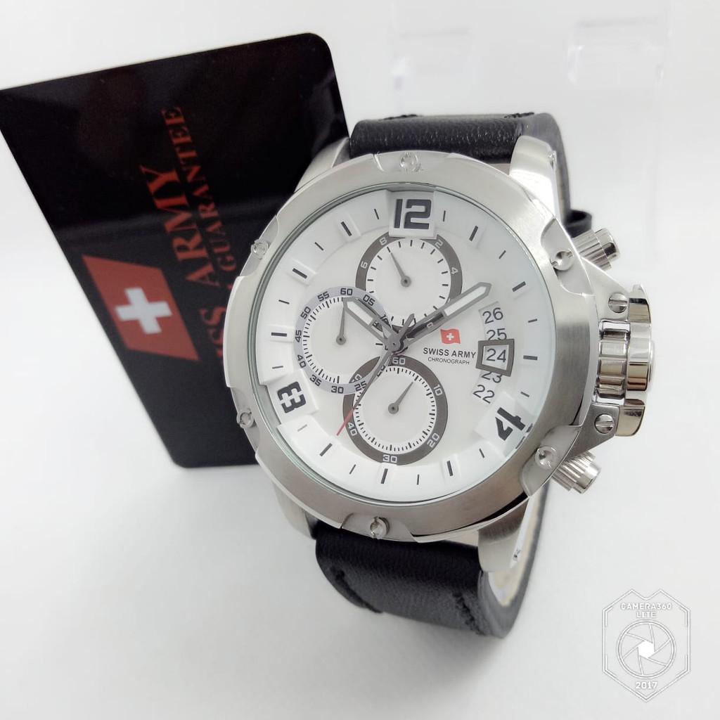 Jam Pria Swiss Army 2292 Silver Plat Hitam Original  23fa719c75