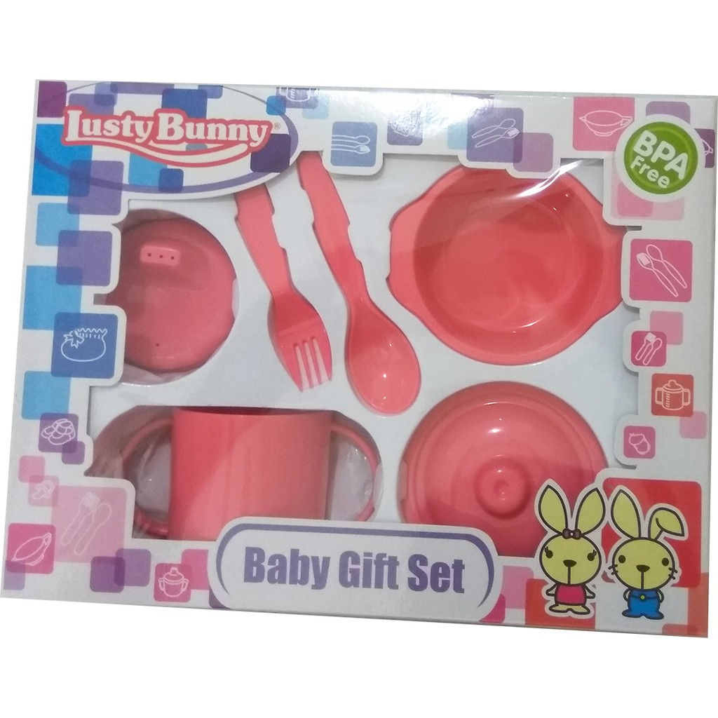 Lusty Bunny Gift Set Shopee Indonesia Bowl And Spoon Biru Muda