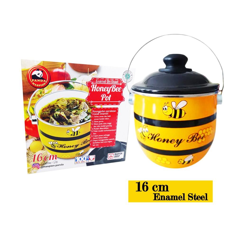 Maspion KSI Group Ideal Rantang Tunggal Enamel Single Food Carrier 14cm | Shopee Indonesia