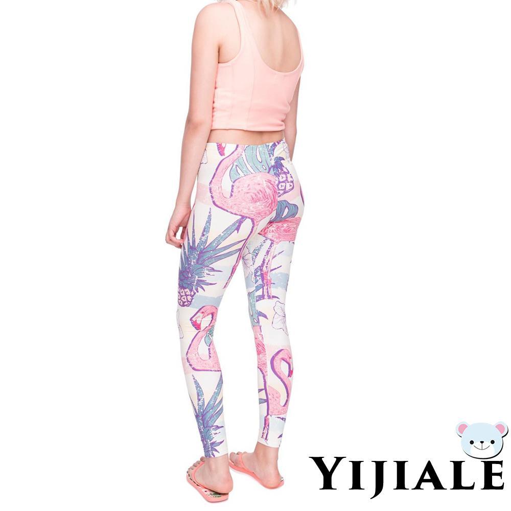 Yj Celana Panjang Legging Motif Print Bunga 3d Untuk Wanita Shopee Indonesia