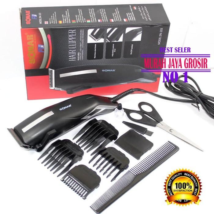 Sonar SN 103 alat cukur rambut elektrik clipper cukur komplit MERAH ... 6874953717