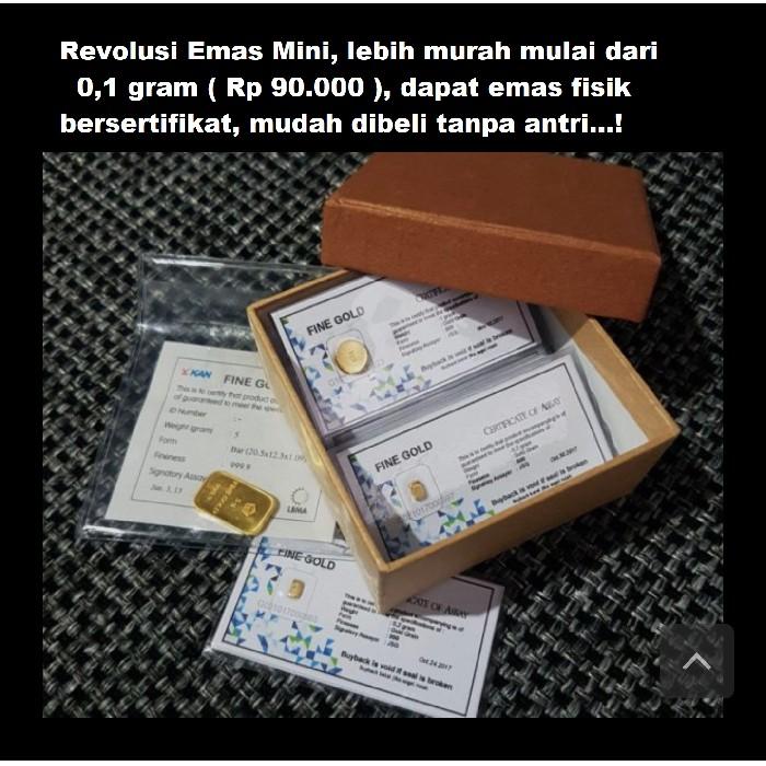 Emas Batangan 0 4 Gram Shopee Indonesia