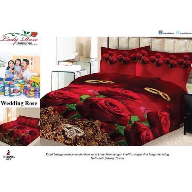 Exclusive Bedcover Set Kintakun Cherish No.1 King 180 Bcs Mawar Bed Cover Sprei Murah