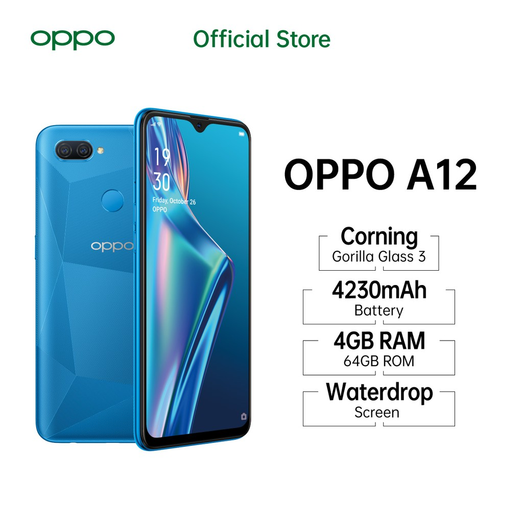 OPPO A12 3GB 32GB & 4GB 64GB GARANSI RESMI OPPO INDONESIA ...