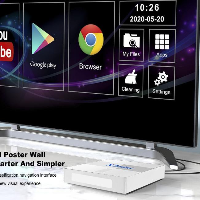 (aav-713) Android TV BOX X3 Mini 1+8GB 4K Smart TV Box Media Player !,