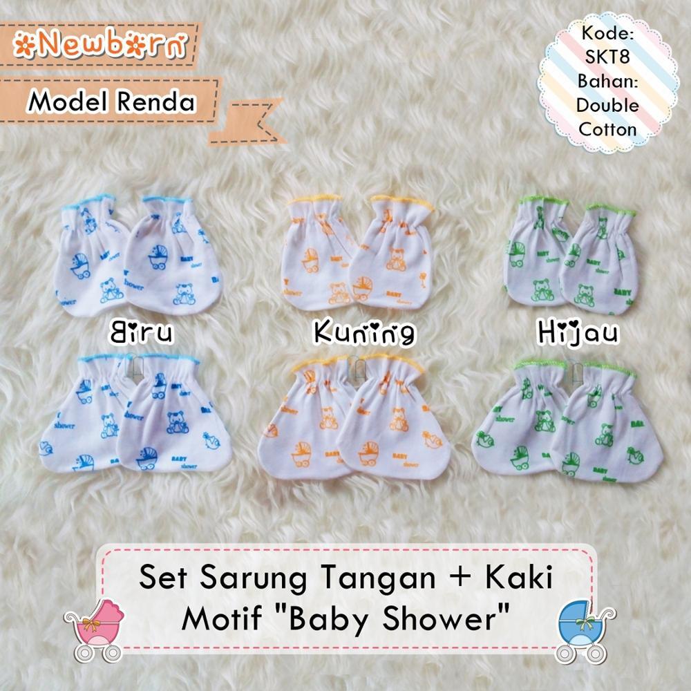 A01 1 Lusin Sarung Tangan Bayi Newborn Petit Baby Renda Shopee Libby Dan Kaki Polos New Born Indonesia