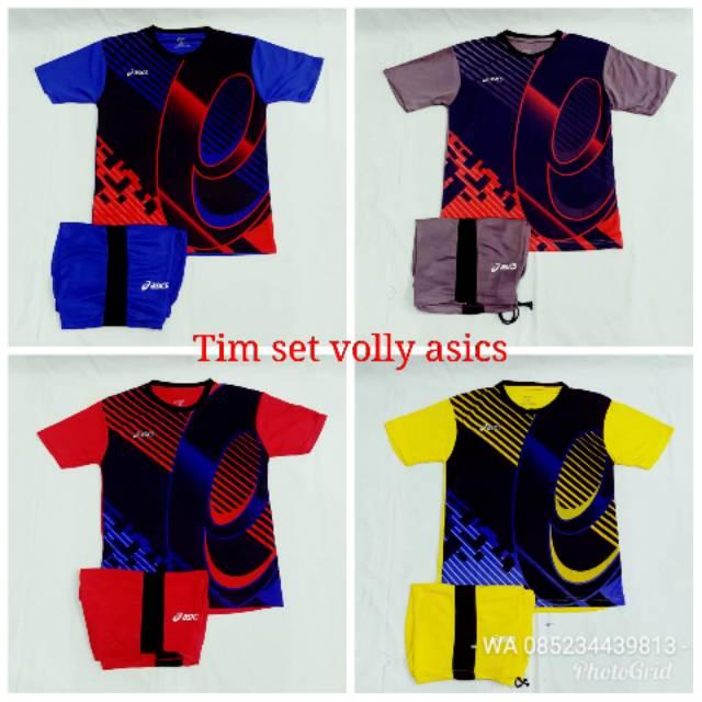 Baju volly merk asics jersey atasan voli motif printing ASICS-44B ... 962e8869c3