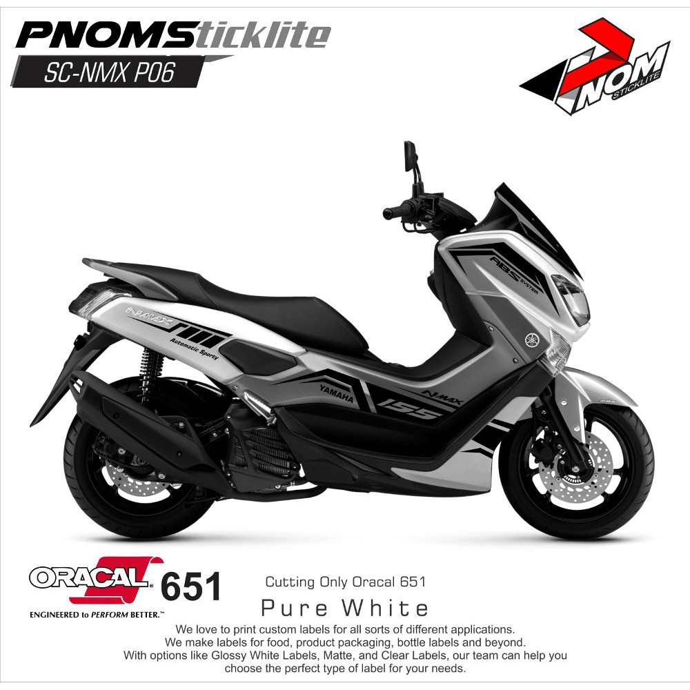 Cutting sticker for yamaha nmax design elegant momo shopee indonesia