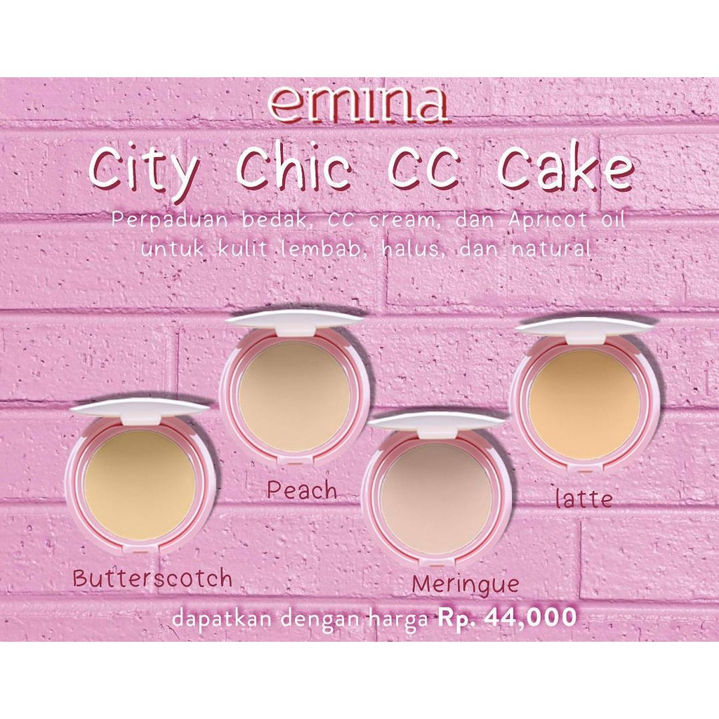 Emina City Chic Cc Cake Shopee Indonesia Bare With Me Mineral Compact Powder