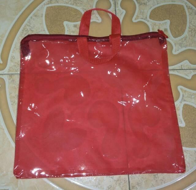 Tas mika plastik packing sprei seprei mukena selimut matras jaket kemasan sajadah handuk resleting