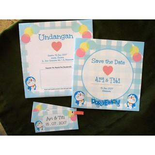 Undangan Pernikahan Doraemon Balloon Shopee Indonesia