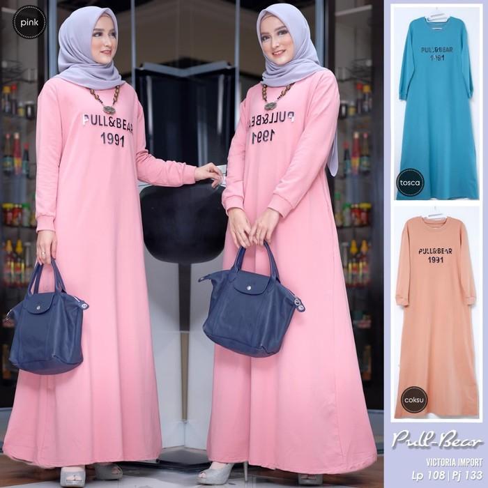 Model Baju Gamis Polos Terbaru 2019 Wanita Hijabfest