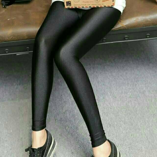 Promo Celana Legging Spandex Mengkilap Licin Lycra Melar Shopee Indonesia