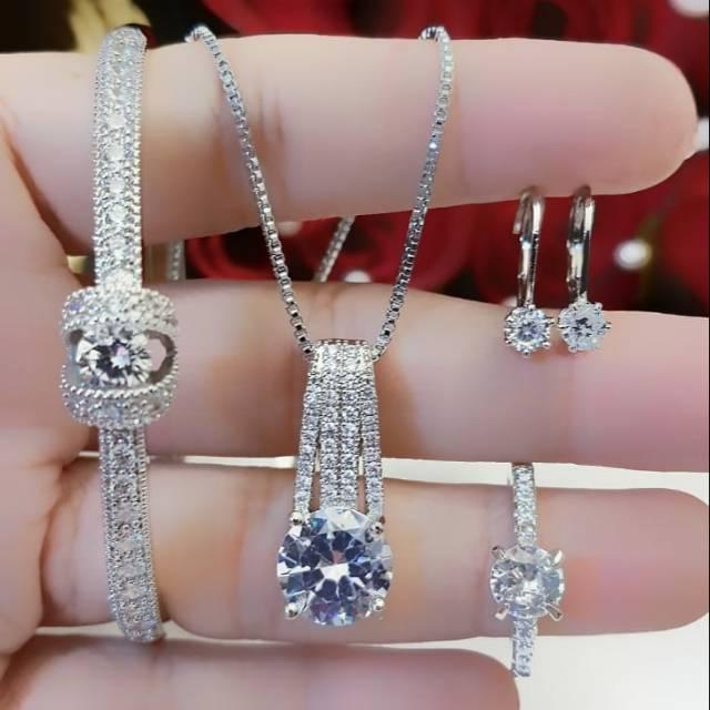 Xuping set perhiasan replika berlian L129   Shopee Indonesia