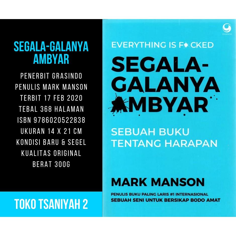Buku Segala Galanya Ambyar Mark Manson Buku Psikologi Kepribadian