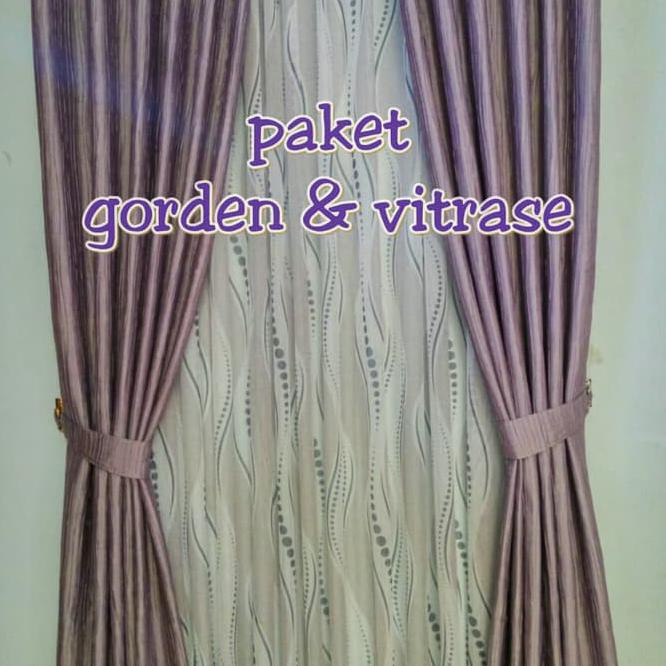 (L 100 - 250cm) Gordyn Vitrase Polos Motif Bunga Putih dan cream   gorden  tipis   gordyn siang  4dde91c0d1