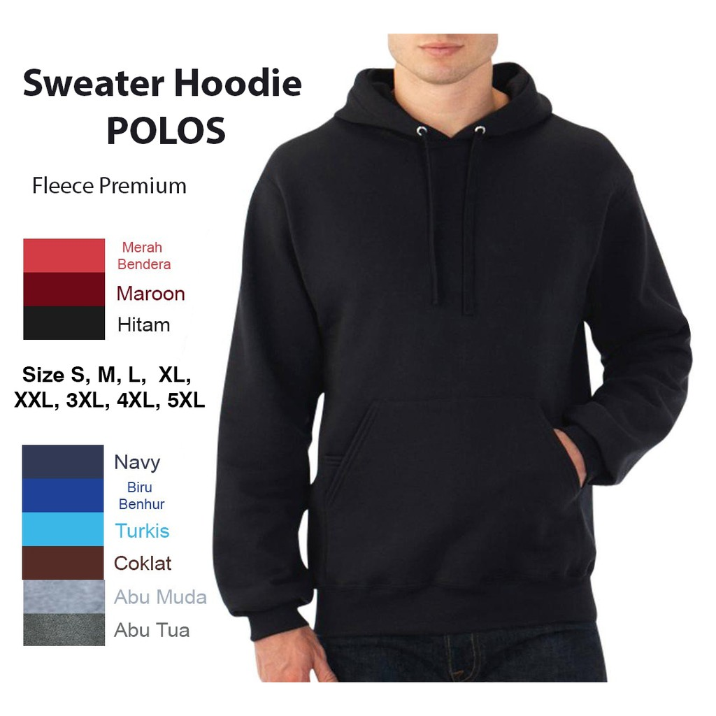 Jaket Sweater Polos Ukuran M, L, XL, XXL , XXXL , XXXXL , XXXXXL - Super Fleece Premium | Shopee Indonesia