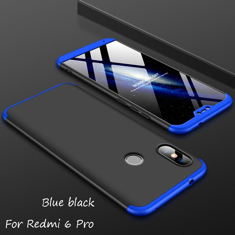 Casing Full Cover 360 Derajat 3in1 Bahan Pc Combo Untuk Xiaomi Redmi 6 Proxiaomi Mi A2 Lite