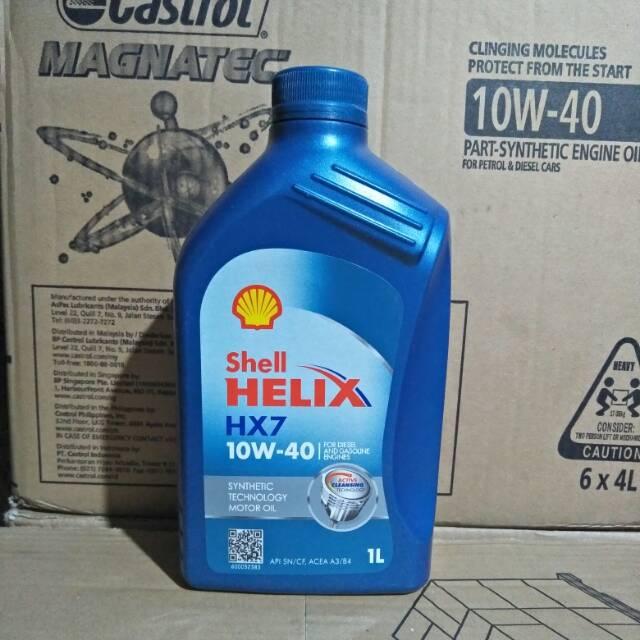 Shell Helix HX7 10w 40 Galon 4Liter