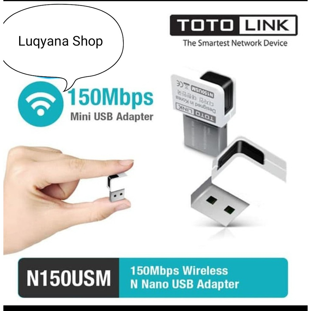 Totolink N150usm Wireless Mini Penangkap Wifi Usb Adapter Shopee Tenda A6 N150 Ap Router Putih Indonesia