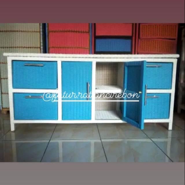 Meja laci / lemaru bufet bahan plastik sintesis (harga blm termasuk ongkir)
