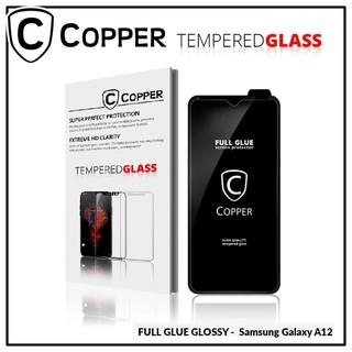 Samsung A12 - COPPER Tempered Glass Full Glue Premium Glossy