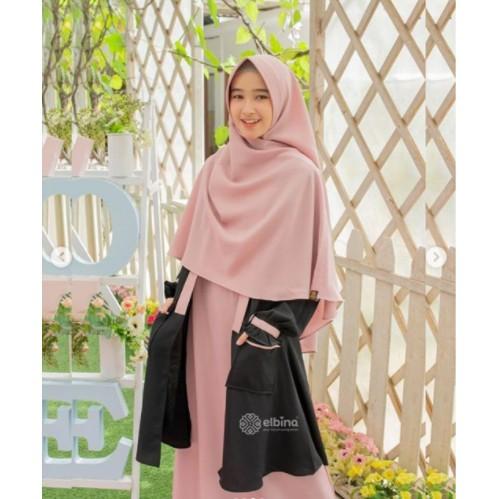 Gamis Satu Set Elbina, Gamis Outer Dan Hijab