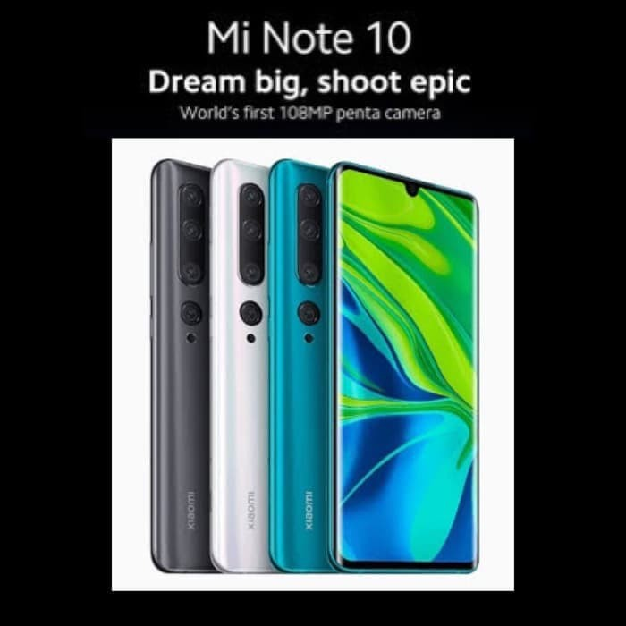 Harga Murah Xiaomi Mi Note 10 Pro 8gb 256gb 6gb 128gb Original Minote 10 Shopee Indonesia