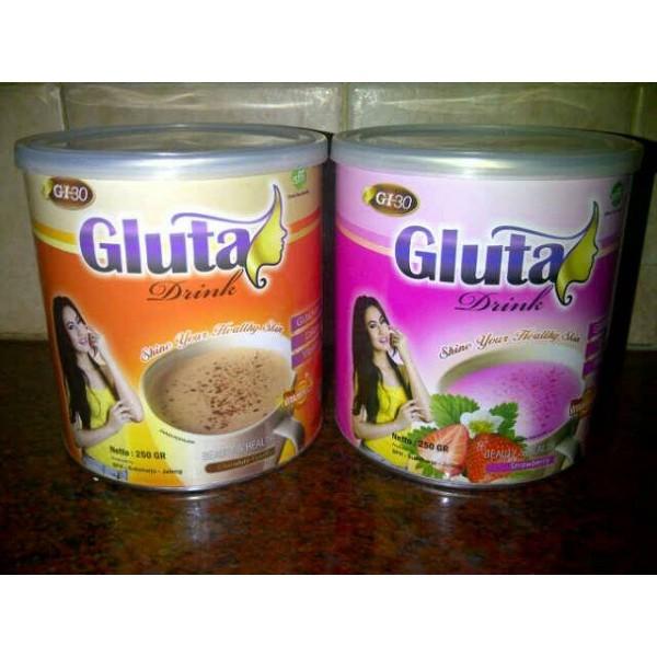 Gluta Drink Kemasan Kaleng Original-Minuman Susu Kecantikan Kulit dan Pelangsing / Gluta Drink 250gr