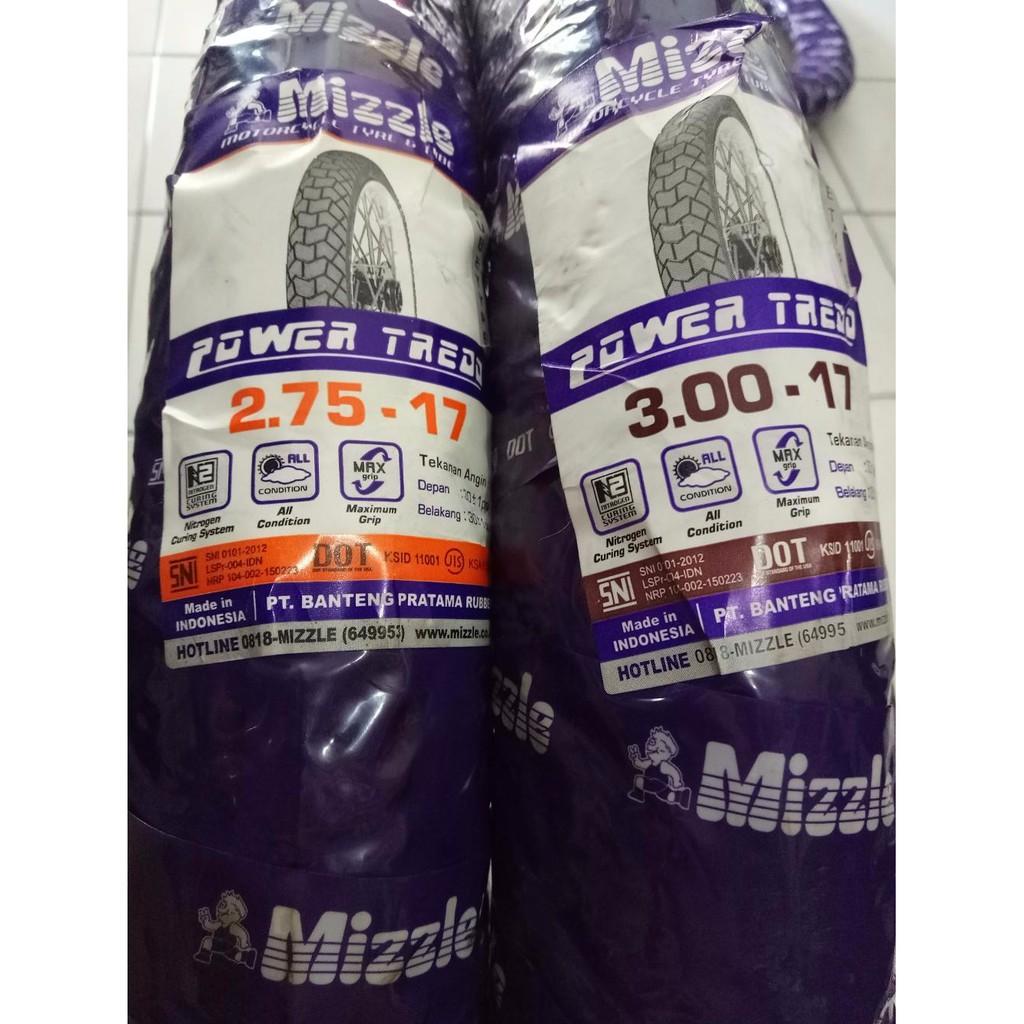 Dijual Paketan Ban Mizzle 250 17 275 17 Power Thread Dan Ban