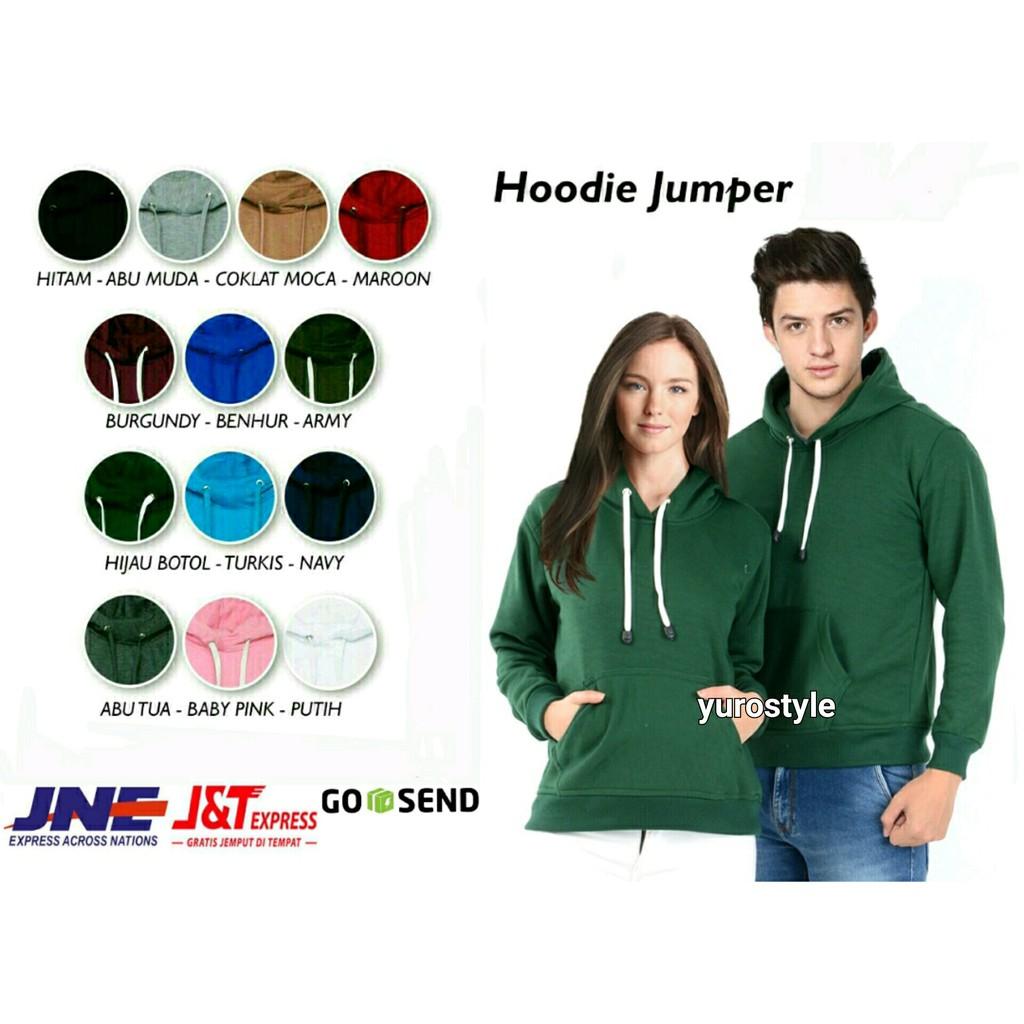 Hoodie Jumper Size Xxl Pria Shopee Indonesia Jaket Sweater Polos Biru Turkis