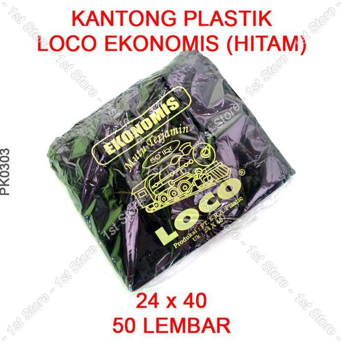Kantong Plastik Loco Tebal Hitam Ukuran 17 | Shopee Indonesia