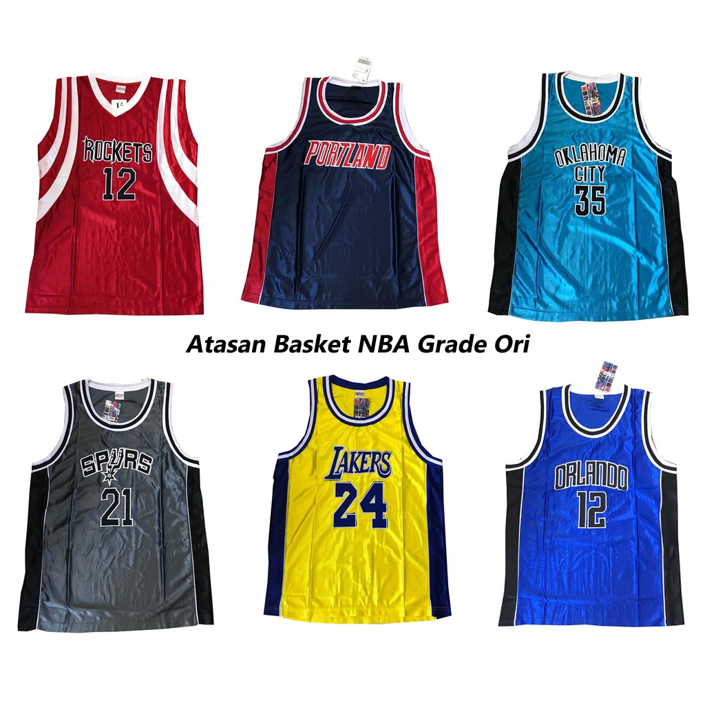 info for e53e8 e72eb ATASAN JERSEY BASKET NBA GRADE ORI