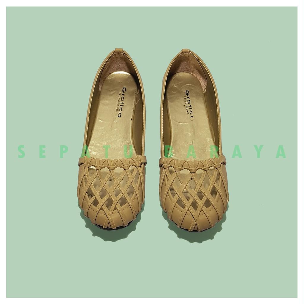 Sepatu Flat Shoes Gratica AW08 All Colour / Sepatu Santai / Sepatu Kerja Wanita / Sepatu