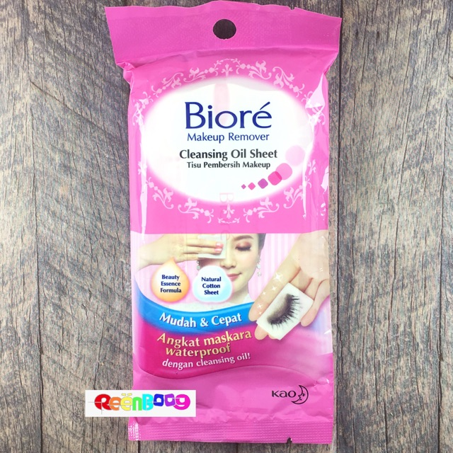 Biore Make Up Remover Cleansing Oil In Cotton Wipes 10 S Sho Indonesia
