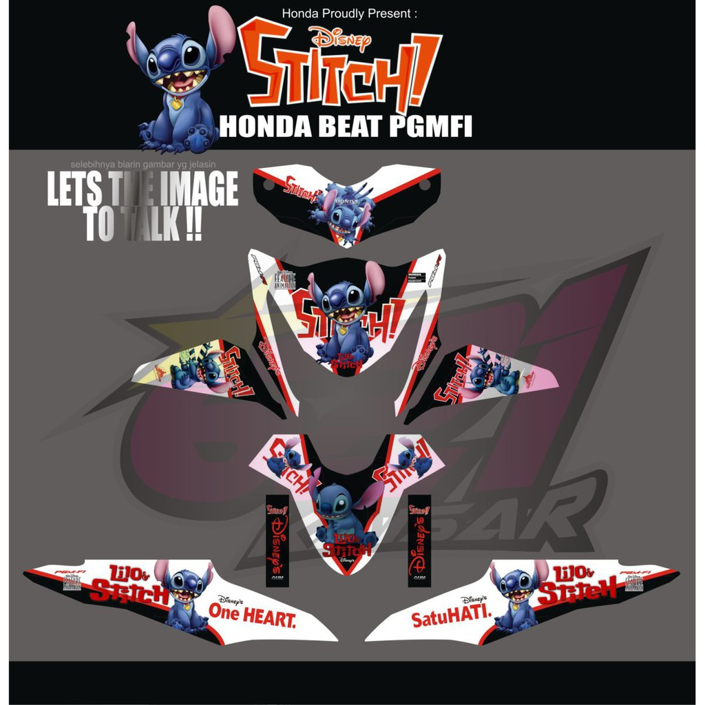 Sticker motor beat fi angry bird shopee indonesia