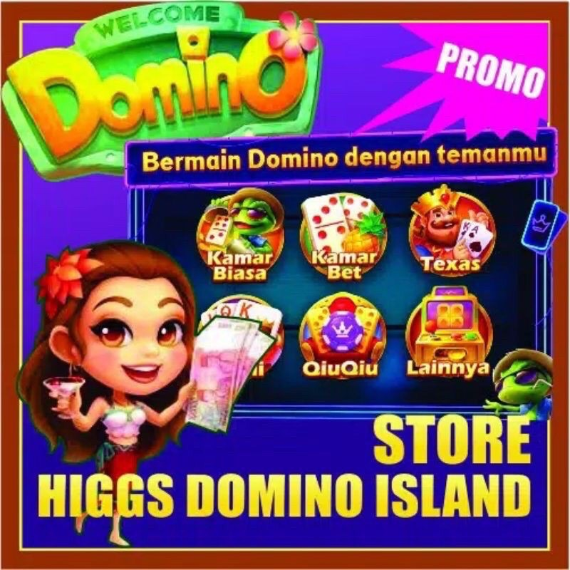 Top Up Coin Koin Chip Emas Domino Higgs Domino Islan Island Cip MD Chip Ungu Chip Resmi
